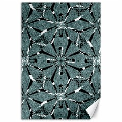 Modern Oriental Ornate Pattern Canvas 24  X 36