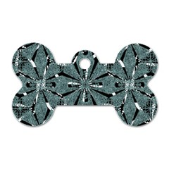 Modern Oriental Ornate Pattern Dog Tag Bone (two Sides)