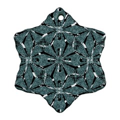 Modern Oriental Ornate Pattern Snowflake Ornament (two Sides)