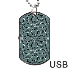 Modern Oriental Ornate Pattern Dog Tag Usb Flash (one Side)