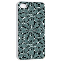 Modern Oriental Ornate Pattern Apple Iphone 4/4s Seamless Case (white)