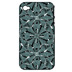 Modern Oriental Ornate Pattern Apple Iphone 4/4s Hardshell Case (pc+silicone)