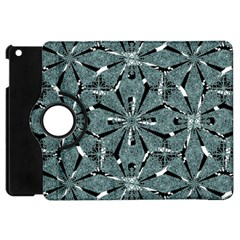 Modern Oriental Ornate Pattern Apple Ipad Mini Flip 360 Case