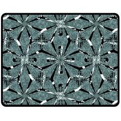 Modern Oriental Ornate Pattern Double Sided Fleece Blanket (medium)