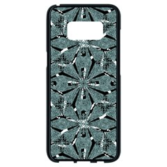 Modern Oriental Ornate Pattern Samsung Galaxy S8 Black Seamless Case