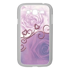 Wonderful Soft Violet Roses With Hearts Samsung Galaxy Grand Duos I9082 Case (white)