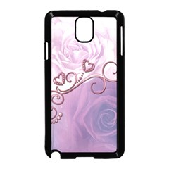 Wonderful Soft Violet Roses With Hearts Samsung Galaxy Note 3 Neo Hardshell Case (black)