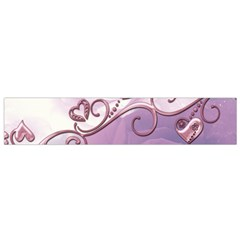 Wonderful Soft Violet Roses With Hearts Small Flano Scarf