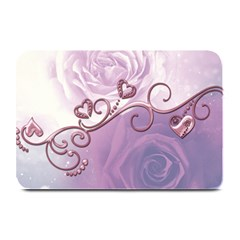 Wonderful Soft Violet Roses With Hearts Plate Mats
