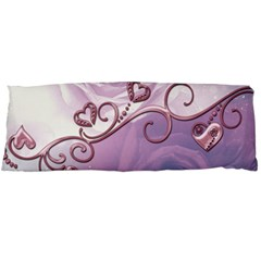 Wonderful Soft Violet Roses With Hearts Body Pillow Case Dakimakura (two Sides)