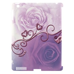 Wonderful Soft Violet Roses With Hearts Apple Ipad 3/4 Hardshell Case (compatible With Smart Cover)