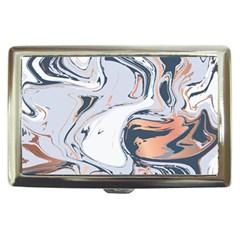 Liquid Gold And Navy Marble Cigarette Money Cases