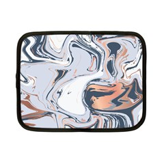 Liquid Gold And Navy Marble Netbook Case (small)
