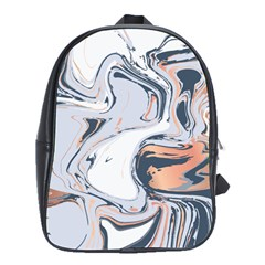 Liquid Gold And Navy Marble School Bag (large)