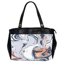 Liquid Gold And Navy Marble Office Handbags (2 Sides)
