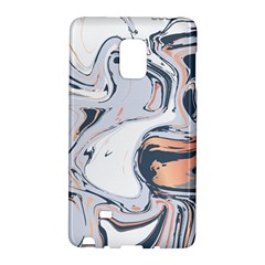 Liquid Gold And Navy Marble Galaxy Note Edge