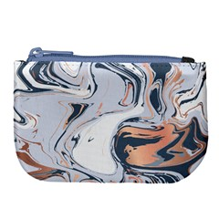 Liquid Gold And Navy Marble Large Coin Purse