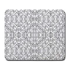 Black And White Ethnic Geometric Pattern Large Mousepads