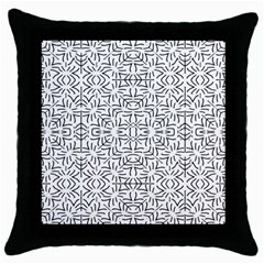 Black And White Ethnic Geometric Pattern Throw Pillow Case (black)