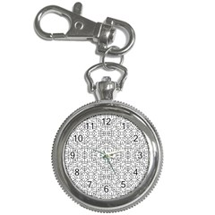 Black And White Ethnic Geometric Pattern Key Chain Watches