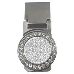 Black And White Ethnic Geometric Pattern Money Clips (cz)