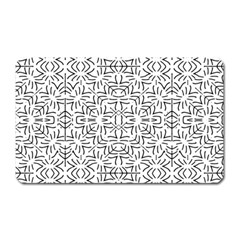 Black And White Ethnic Geometric Pattern Magnet (rectangular)
