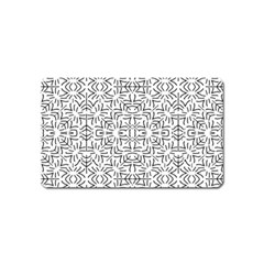 Black And White Ethnic Geometric Pattern Magnet (name Card)