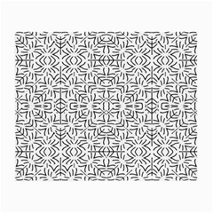 Black And White Ethnic Geometric Pattern Small Glasses Cloth (2 Side)