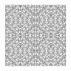Black And White Ethnic Geometric Pattern Medium Glasses Cloth