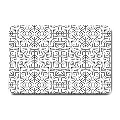 Black And White Ethnic Geometric Pattern Small Doormat