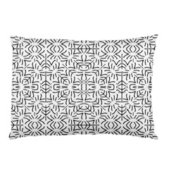 Black And White Ethnic Geometric Pattern Pillow Case