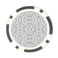 Black And White Ethnic Geometric Pattern Poker Chip Card Guard (10 Pack)