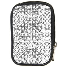 Black And White Ethnic Geometric Pattern Compact Camera Cases
