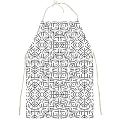 Black And White Ethnic Geometric Pattern Full Print Aprons