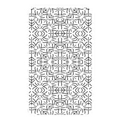 Black And White Ethnic Geometric Pattern Memory Card Reader