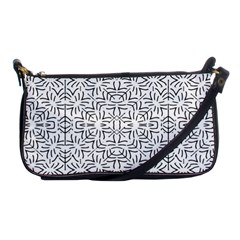 Black And White Ethnic Geometric Pattern Shoulder Clutch Bags