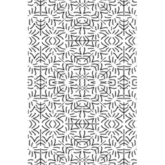 Black And White Ethnic Geometric Pattern 5 5  X 8 5  Notebooks
