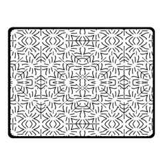 Black And White Ethnic Geometric Pattern Fleece Blanket (small)