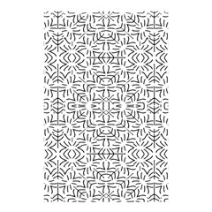 Black And White Ethnic Geometric Pattern Shower Curtain 48  X 72  (small)