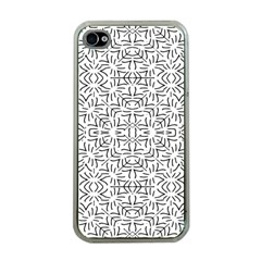 Black And White Ethnic Geometric Pattern Apple Iphone 4 Case (clear)