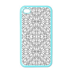 Black And White Ethnic Geometric Pattern Apple Iphone 4 Case (color)
