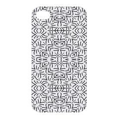 Black And White Ethnic Geometric Pattern Apple Iphone 4/4s Hardshell Case