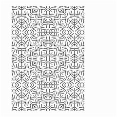 Black And White Ethnic Geometric Pattern Small Garden Flag (two Sides)