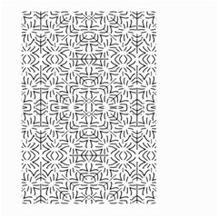 Black And White Ethnic Geometric Pattern Large Garden Flag (two Sides)