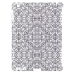 Black And White Ethnic Geometric Pattern Apple Ipad 3/4 Hardshell Case (compatible With Smart Cover)