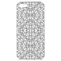 Black And White Ethnic Geometric Pattern Apple Iphone 5 Hardshell Case