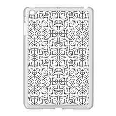 Black And White Ethnic Geometric Pattern Apple Ipad Mini Case (white)