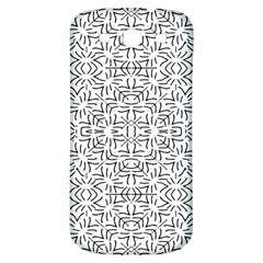 Black And White Ethnic Geometric Pattern Samsung Galaxy S3 S Iii Classic Hardshell Back Case