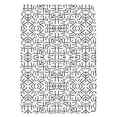 Black And White Ethnic Geometric Pattern Flap Covers (s)