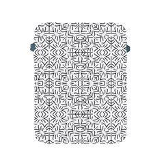 Black And White Ethnic Geometric Pattern Apple Ipad 2/3/4 Protective Soft Cases